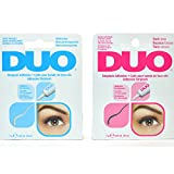 2 NEW DUO STRIPLASH ADHESIVE GLUE EYELASHES LASH CLEAR WHITE 240592 + DARK TONE 240593 + FREE EARRING