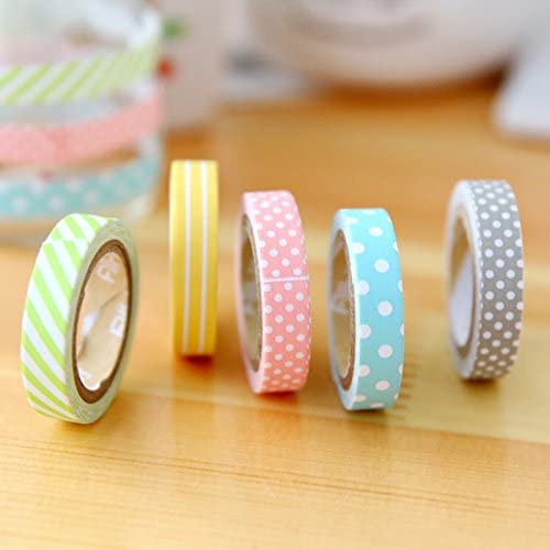15mm// 0.59inches Wide Keyboard Random Style VEYLIN 20 Rolls Craft Washi Tape Set No Duplicates Decorative Masking Adhesive Tapes for Notebook Lamps