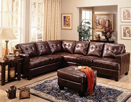 Amazon.com: Inland Empire Furniture Powell Dark Brown Bonded ...