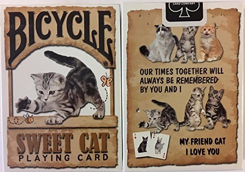 Sweet Cat Bicycle Playing Cards Poker Size Deck USPCC - Cat Poker