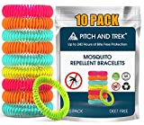 Mosquito Repellent Bracelet for Kids, Adults & Pets - 100% Natural Deet-Free - Non Toxic - Waterproof Safe Travel Anti Insect Bands - 10 Pack - Extreme USA Protection
