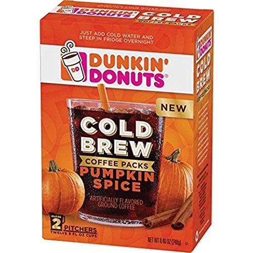 Dunkin' Donuts Cold Brew Coffee Packs Pumpkin Seasoning (1 Box)