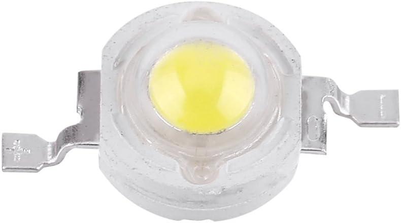 50 piezas de chip LED de alta potencia, intensidad súper brillante SMD COB, componentes de emisor de luz de diodo de 1 W, bombilla de luz chip DIY iluminación para focos de alta potencia (blanco frío)