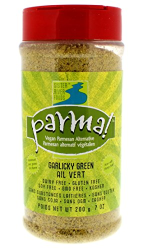 Parma! Vegan Parmesan Garlicky Green, Dairy-Free, Soy-Free and Gluten-Free Vegan Cheese, Plant-Based Superfood, Kosher (7 oz)