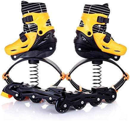 2 1フィットネスジャンプシューズバウンスシューズ&インラインスケートシューズ - スペースバウンスシューズ - 反重力ランニングブーツ、ランニング、バスケットボール 跳躍競技 (Color : Yellow, Size : M)