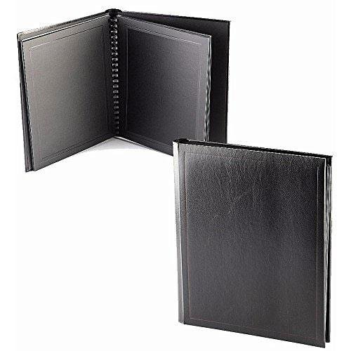 Professional PARADE BLACK/Black slip-in mat photo album for 20 prints - 8x10