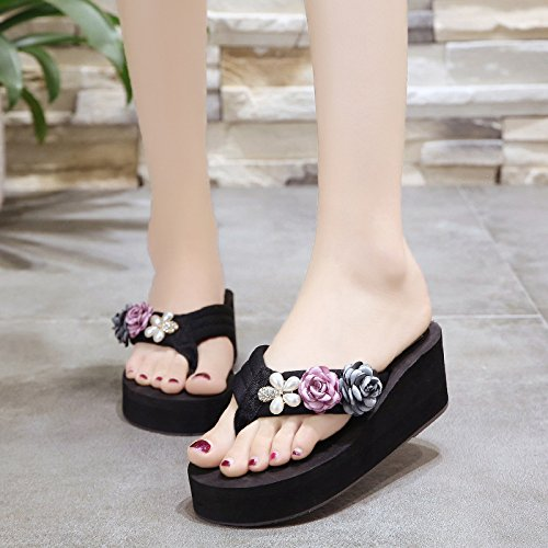 Flowers Wild Casual Summer Female Sandals Comfort Beach And Slippers Pink Flip Rhinestones Women'S Beach Sandals Flops WHLShoes q0wOPpx8YW
