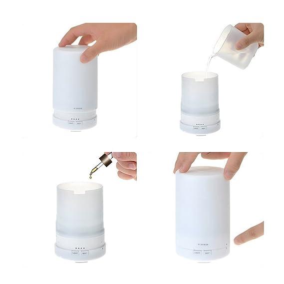 Humidificador - SODIAL(R)Humidificador Difusor ultrasonico Difusor de aromaterapia Difusor del aroma Humidificador ultrasonico para Ninos con capacidad ...