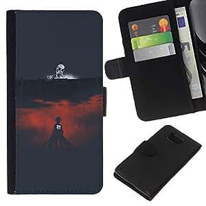 All Phone Most Case / Oferta Especial Cáscara Funda de cuero Monedero Cubierta de proteccion Caso / Wallet Case for Samsung ALPHA G850 // Death Arena