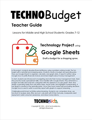 TechnoBudget: Personal Finance Lessons, Budgeting for Kids, Tweens, and Teens, Grades 6-12, Money Management Curriculum Unit (Google) (Financial Literacy Activities For High School Students)