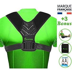 Correcteur de posture dos – redresse dos Homme et Femme – Ceinture dorsale réglable pour maintien dos droit – Soutien la…