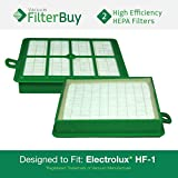 2 - Eureka Electrolux Sanitaire Washable HF1 (HF-1) HF12 (HF-12) HEPA Filters, Part # 60286A, Designed by FilterBuy to fit Eureka Electrolux Sanitaire Canister Vacuum Cleaners.