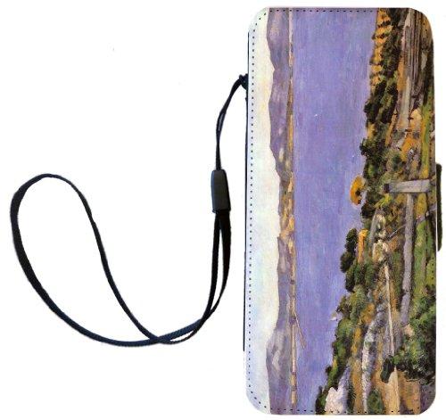 Rikki Knight Paul Cezzane Art L'Estaque vue du Golfe de Marseille Flip Wallet iPhoneCase with Magnetic Flap for iPhone 5/5s - L'Estaque vue du Golfe de Marseille