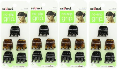 Scunci No-Slip Grip Clips, 17902-A, 5 ea (Pack of 4) - Hair Clips Grips