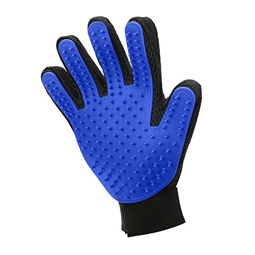 MUDEELA Pet Hair Remover Glove - Pet Grooming Glove - Cat Hair Glove Removal for Dogs Cats with Long & Short Fur - Efficient DeShedding Mitt - 1 Pack (right-hand)