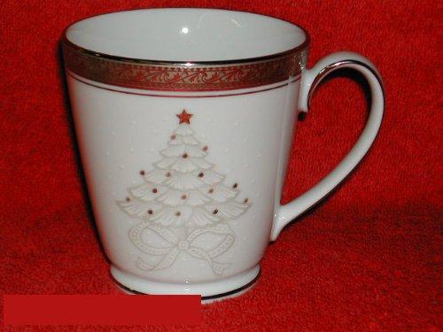 - Noritake Crestwood Platinum Holiday Accent Mug