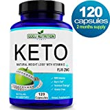 Best Keto Diet Weight Loss Pills 1000mg BHB (120 Capsules) That Work Fast for Women and Beginners 100% Natural exogenous Ketones no fillers Great for Low carb and Paleo Diets