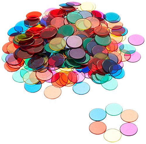 Learning Resources Transparent Color Counting Chips, Set of 250 Assorted