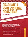 Graduate and Professional Programs: an Overview 2012 (Grad 1), Peterson's Publishing Staff, 0768932807