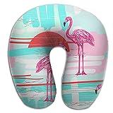 KopgLnm Hawaii Beach Flamingo Bird Neck Pillow Comfortable Soft Microfiber Neck-supportive Travel Pillow For Home, Neck Pain