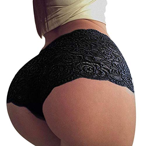 Zlolia Clearance Women Seamless Lace Panties Briefs Underwear Lingerie Knickers Thongs (Risque Leather)