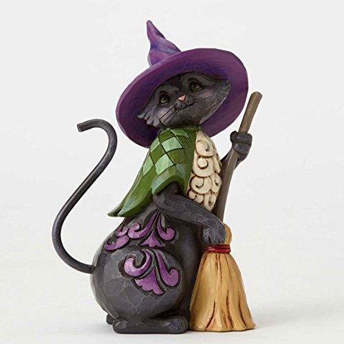 Jim Shore Heartwood Creek, Pint Sized Black Cat w/Broom