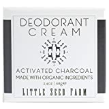 Little Seed Farm Natural Deodorant Cream, Activated Charcoal, Aluminum-Free, Baking Soda-Free, 2.4 Ounce
