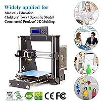 3D Printer I3 High Precision Large Size Desktop 3D Printer Kit Reprap Prusa I3 DIY Self-Assembly LCD Screen PLA/ABS Coil 1.75MM DIY 3D Printer Kit … by BobsCNC