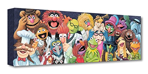 (Disney Fine Art Back Stage at The Show by Michelle St. Laurent Treasures on Canvas The Muppets 8 Inches x 24 Inches Reproduction Gallery Wrapped Canvas Wall)