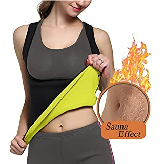 Glamours Womens Body Shaper Vest for Weight Loss Slimming Sweat Fat Burner Tank Top (X-Large)