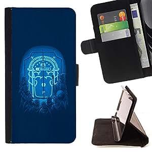 BullDog Case - FOR/Samsung Galaxy Note 4 IV / - / Moonlight Door /- Monedero de cuero de la PU Llevar cubierta de la caja con el ID Credit Card Slots Flip funda de cuer