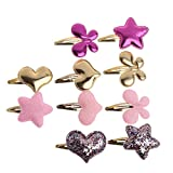 (US) Lulujan Hair Clips Set Butterfly Loving Heart Stars Mini Hair Pins Hair Barrettes No Slip Snap Clips for Baby Girls (Colorful, 10-Pack)