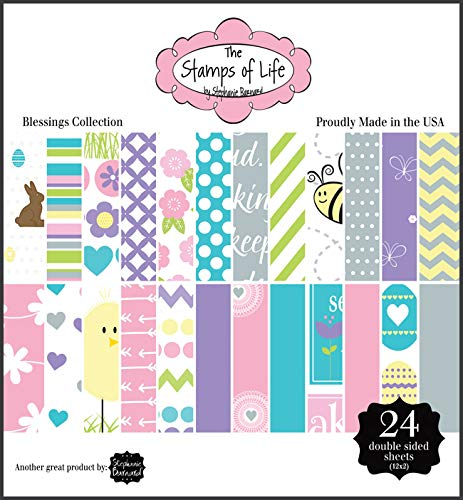 The Stamps of Life Blessings Collection Easter Patterned Paper Pad for Card-Making and Scrapbooking by Stephanie Barnard ()