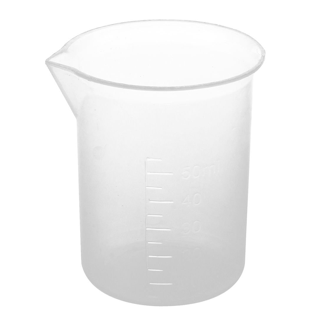 TOOGOO 50mL Clear Plastic Graduated Measuring Cup for Biochemistry lab Scale Mug
