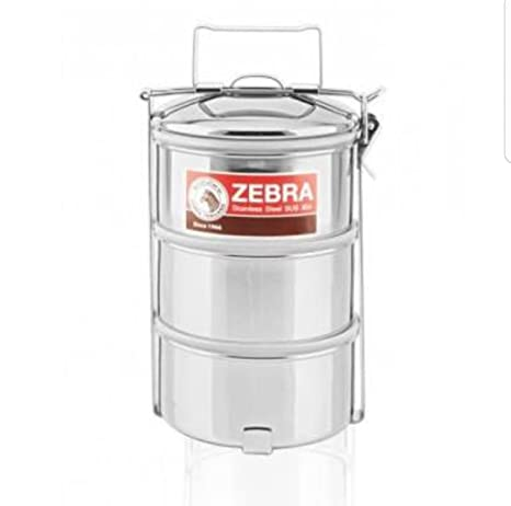 Amazoncom Zebra brand Stainless steel food carrier 14cm x 3 tier
