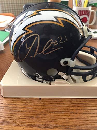 Ladainian Tomlinson Autographed Signed Riddell Mini Football Helme Signature - Beckett Authentic - Ladainian Tomlinson Signed Authentic Football