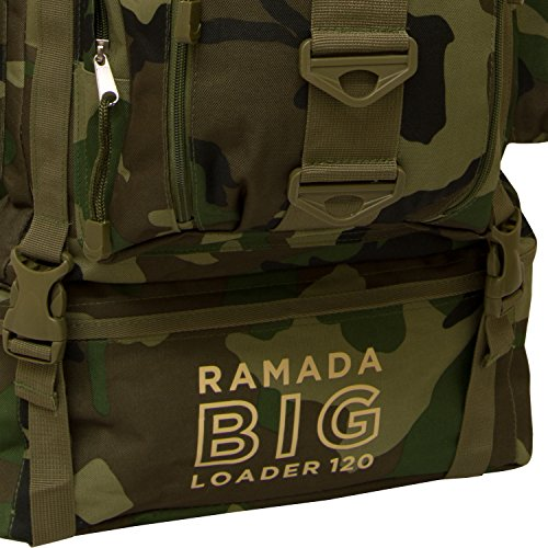 Andes Ramada Luggage 120L Rucksack Camouflage Hiking Camping Large Bag Backpack Extra 6F6rwqSa