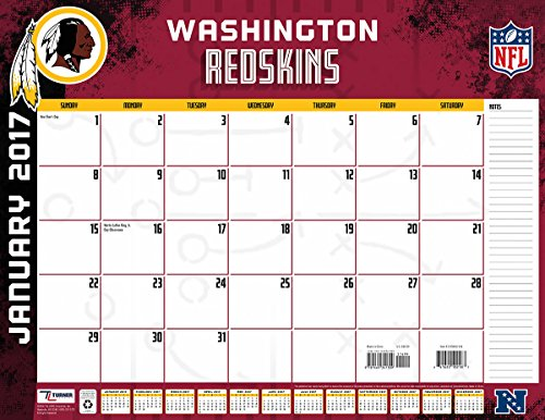 "Turner Licensing Sport 2017 Washington Redskins Desk Pad Calendar, 22""X17"" (17998061554)"