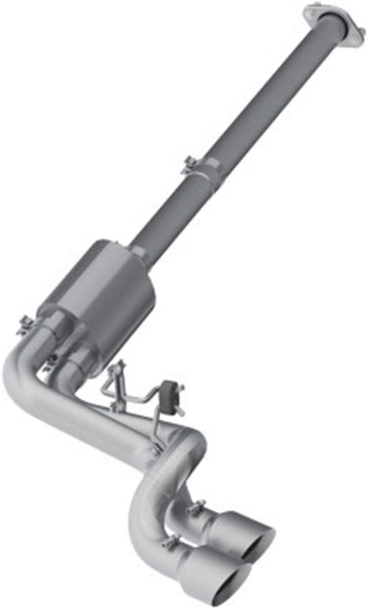 Aluiminized Steel MBRP S5260AL 3 Cat Back Single Side Dual Outlet in Front of Rear Wheel