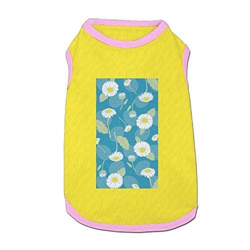 (Nicokee Daisy Puppy Dogs Shirts Costume Pets Clothing Warm Vest T-shirt Large)