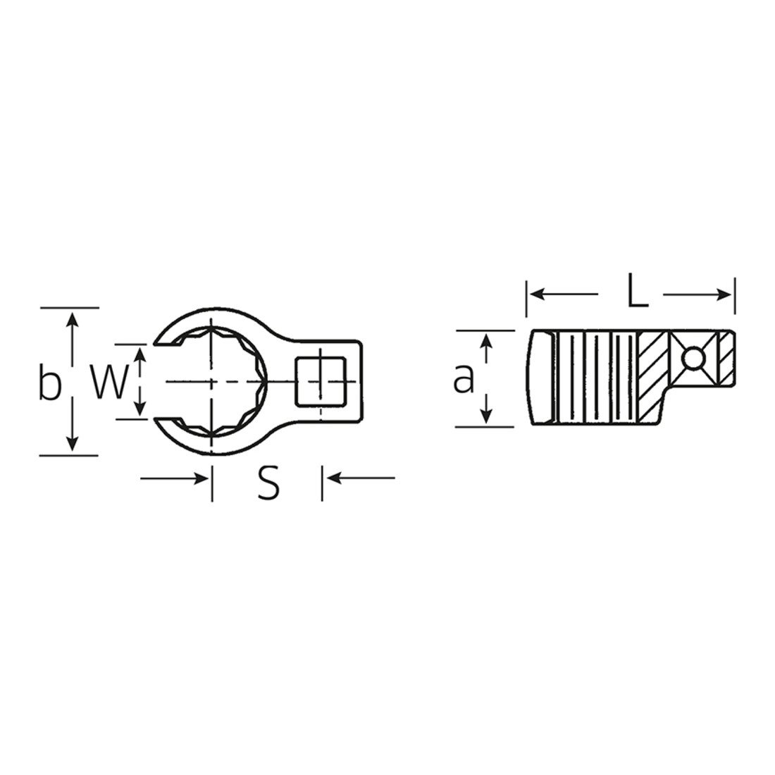 Stahlwille 440/to 1/3//8/ /Slogging Ring Spanner 1//2//°C