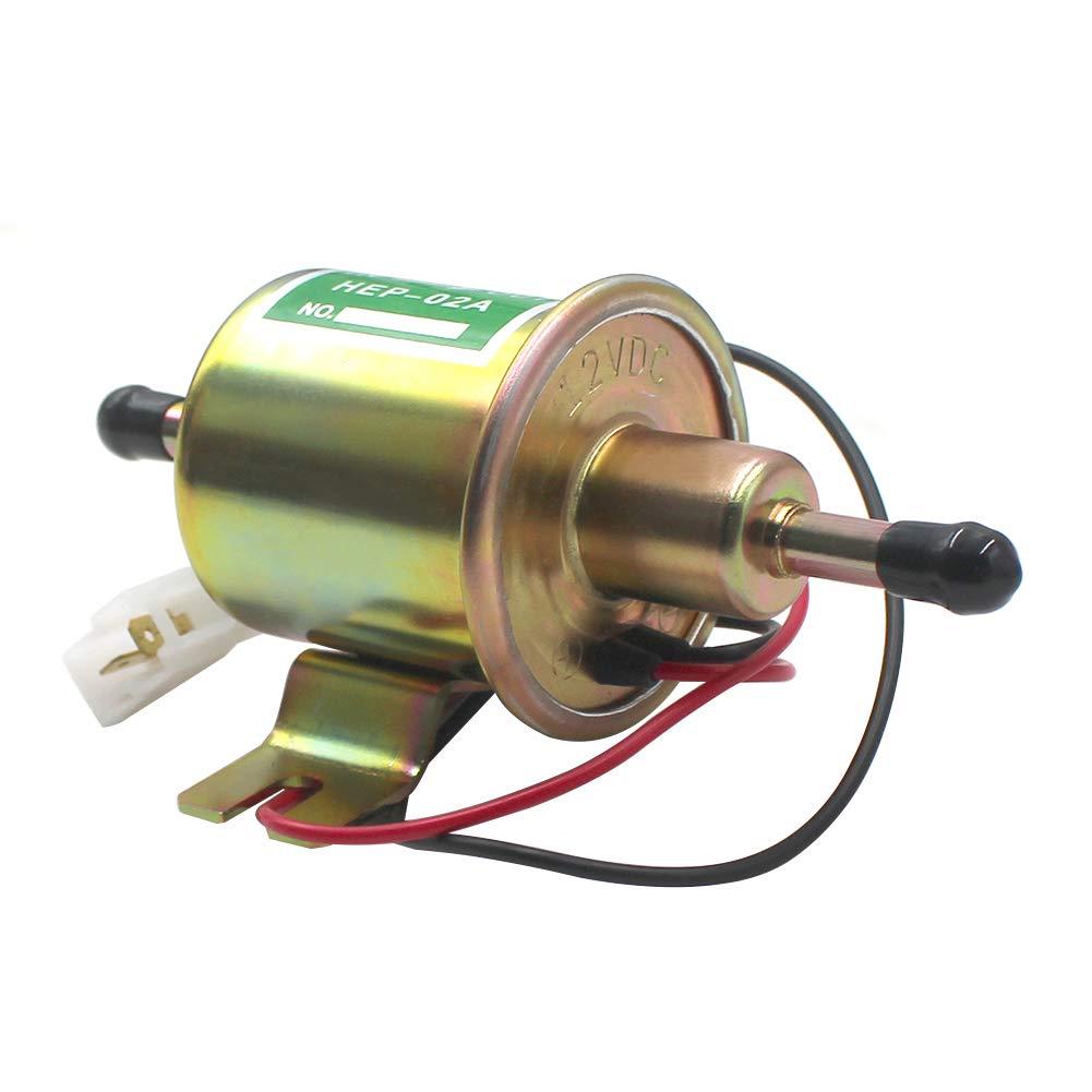 Road Passion 12V Elektrisch Kraftstoffpumpe Benzinpumpe 110LPH Selbstansaugend Universal