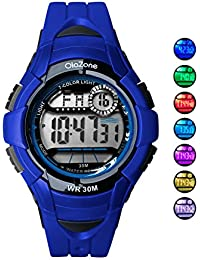 Boys Watch Digital 7-color Flashing Light Water Resistant...