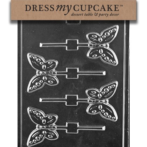 - Dress My Cupcake Chocolate Candy Mold, Butterfly Lollipop