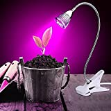 VANKER 5W LED Desk Plant Grow Light W/ Flexible Gooseneck For Indoor Garden Greenhouse US Plug For Sale
