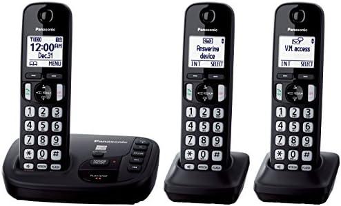 Panasonic KX-TGD223B - Teléfono (Teléfono DECT, 15 min, Polifónico, Escritorio/Pared, Negro, Digital): Amazon.es: Electrónica