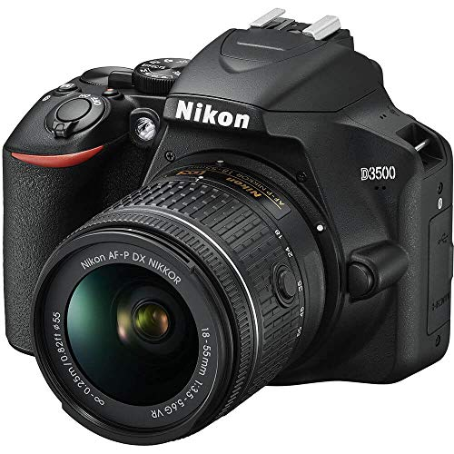 Nikon D3500 DX-Format DSLR Two Lens Kit with AF-P DX Nikkor 18-55mm f/3.5-5.6G VR & AF-P DX Nikkor 70-300mm f/4.5-6.3G ED (Black) 16 GB Class 10 SD Card and DSLR Bag