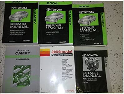 2004 toyota camry service shop repair manual set oem 04 w ewd factory books  (3 volume set, electrical wiring diagrams manual,new car features  manual,and the