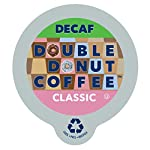 Double Donut Classic Decaf Coffee, in Recyclable Single Serve Cups for Keurig K-Cup Brewers, 80 Count by Double Donut
