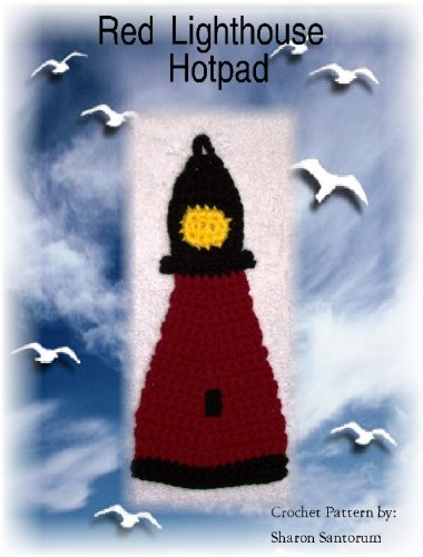 Red Lighthouse Hot Pad Crochet